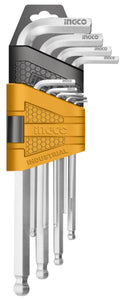 INGCO 9 Pcs Ball End Hex Keys Set