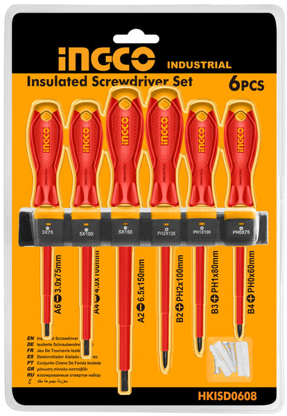 INGCO 6 Pcs VDE Screwdrivers Set