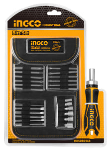INGCO 26 Pcs Screwdriver Bits Ratcheting Driver