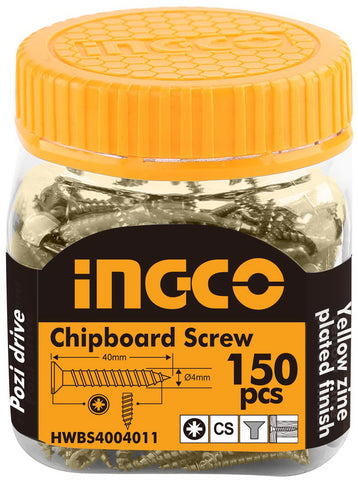 INGCO 150 Pcs 8G CS 40mm Drywall Screw Zinc Pozi