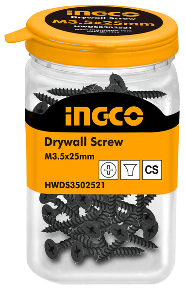INGCO 250 Pcs 6G Bugle Head 25mm Drywall Screw Fine