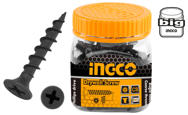 INGCO 120 Pcs 8G Bugle Head 51mm Drywall Screw