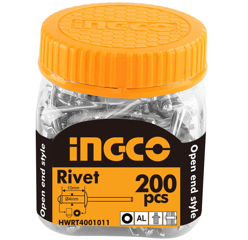 INGCO 200 Pcs 4x10mm Rivet