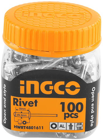 INGCO 100 Pcs 4.8x16mm Rivet
