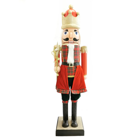 110cm Musical Animated Moving Nutcracker Sings Jingle Bells Christmas Decoration