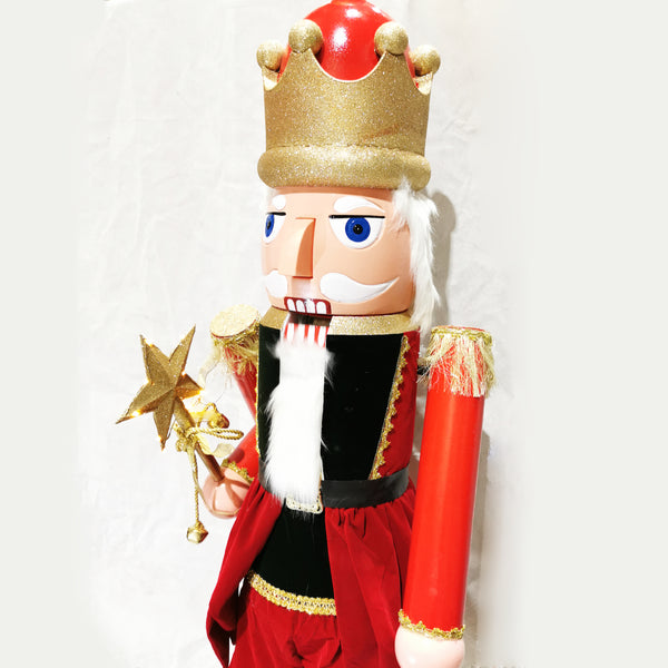 110, 160cm Musical Animated Moving Nutcracker Sings Jingle Bells Christmas Decoration