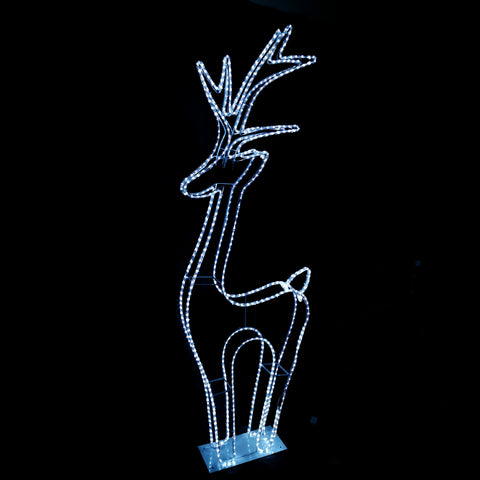 200cm Tall LED Christmas Motif 3D Standing Reindeer Indoor/Outdoor