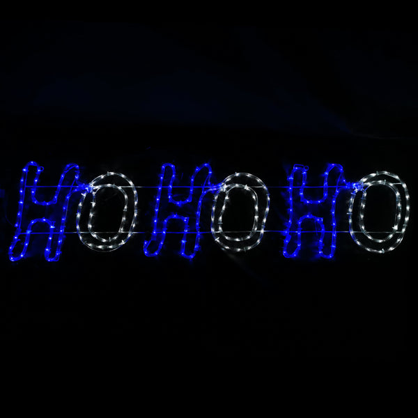 Santa HOHOHO LED Motif Flashing LEDs 150x38cm Indoor/Outdoor