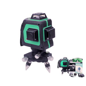 Borka 12 Lines 3D Green Laser Level Full 360° Automatic Self Levelling Kit IP54