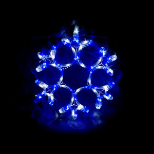 Solar Powered Blue White Snowflake Outdoor Christmas Motif Display 38cm