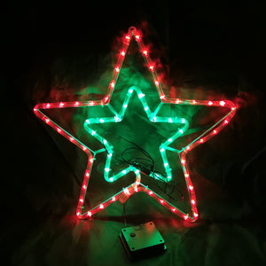 Solar Powered Dual Layer Star Outdoor Christmas Motif Display 50cm