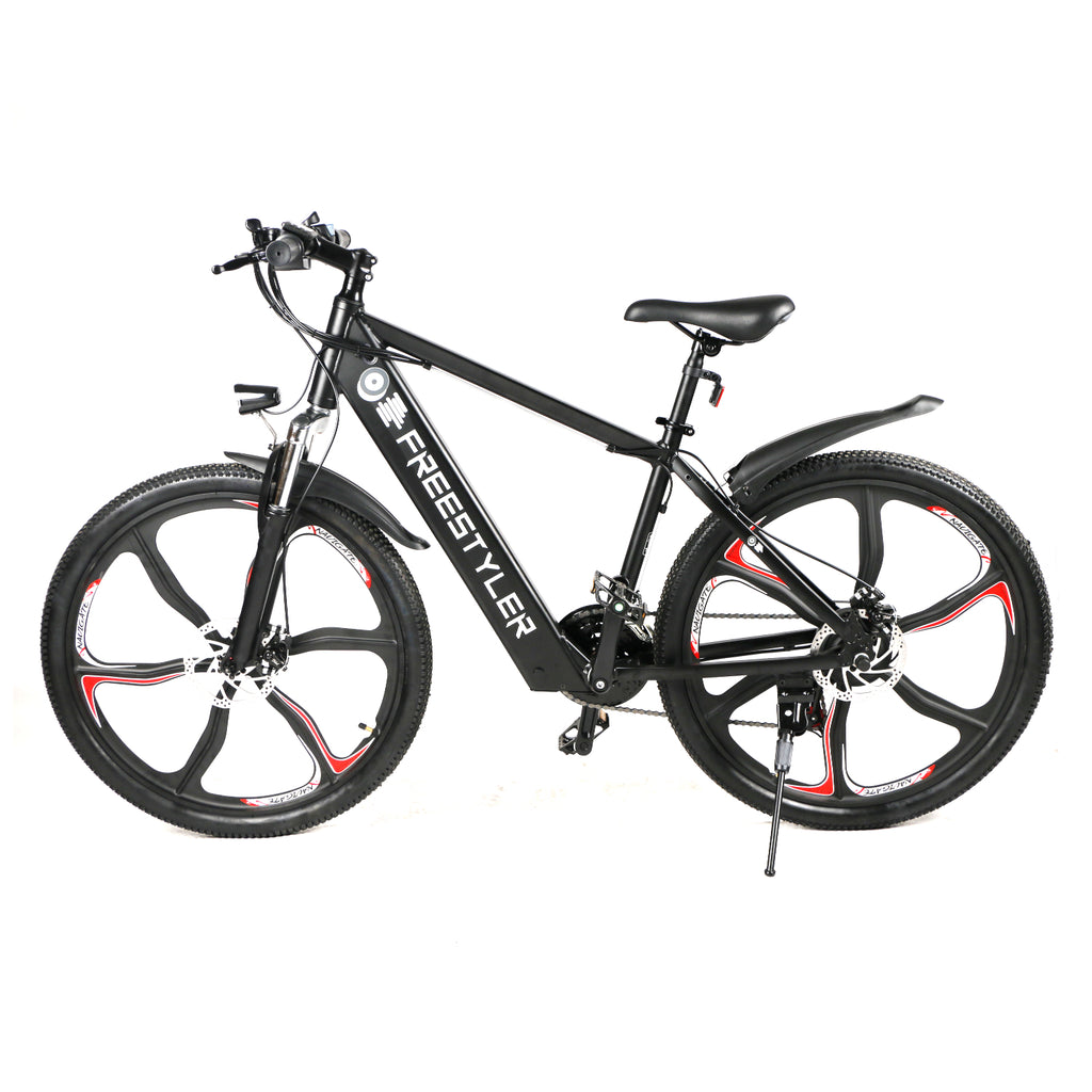 "Freestyler 2021 48V 8Ah 26"" 250W E-Bike Mountain Bike Magnesium Alloy Rims Shimano 21 Speed"