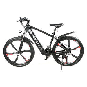 "Freestyler 2021 36V 8Ah 26"" 250W E-Bike Mountain Bike Magnesium Alloy Rims Shimano 21 Speed"