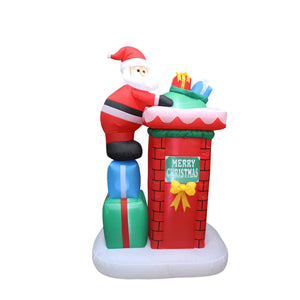 Inflatable 180cm Santa Chimney Presents Delivery LED Lit