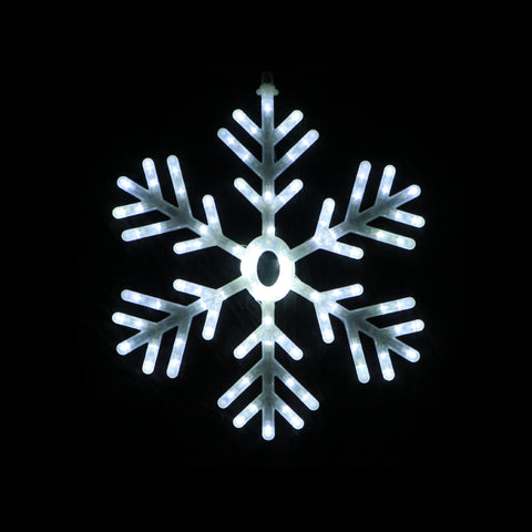 Christmas LED Motif White Snowflake 60x60cm Indoor Outdoor Display Sign