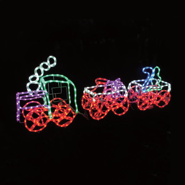 3D LED Christmas Motif Train Set 180cm Long Indoor/Outdoor