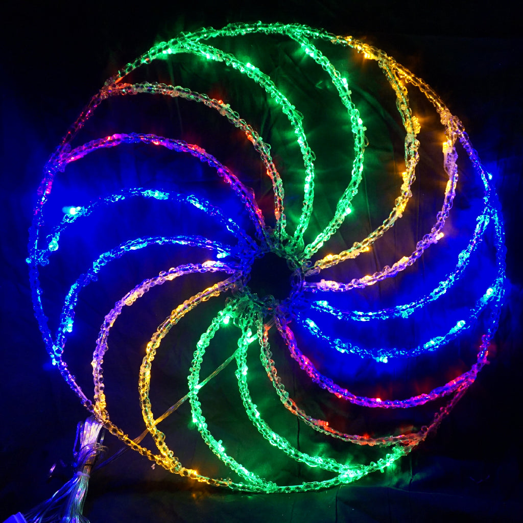 Christmas LED Motif Acrylic Spinning Disc 51x51cm Indoor Outdoor Display Sign