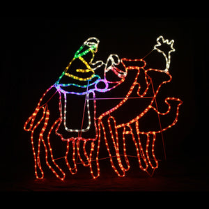 Christmas LED Motif The Three Wise Men Camels Indoor Outdoor Display Sign