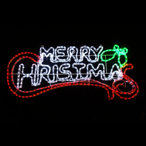 Christmas LED Motif Merry Christmas Sign 100x44cm Indoor Outdoor Display Sign