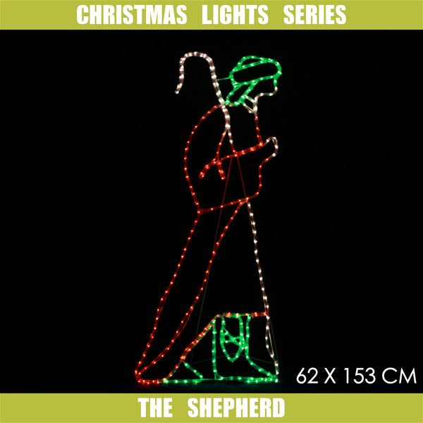 Christmas LED Motif The Shepherd 62x153cm Indoor Outdoor Display Sign