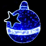 Christmas LED Motif Tinsel Filled Baubles 74x82cm Indoor/Outdoor