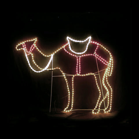 Christmas LED Motif Standing Camel 120x100cm Indoor Outdoor Display Sign