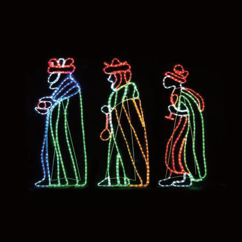 Christmas LED Motif The Three Wise Men Nativity 160cm Indoor Outdoor Display Sign