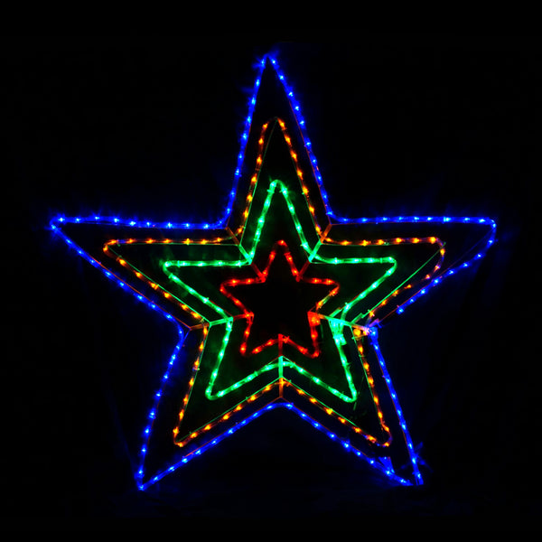 Christmas LED Motif 4 Layer Star 108x108cm Outdoor Display
