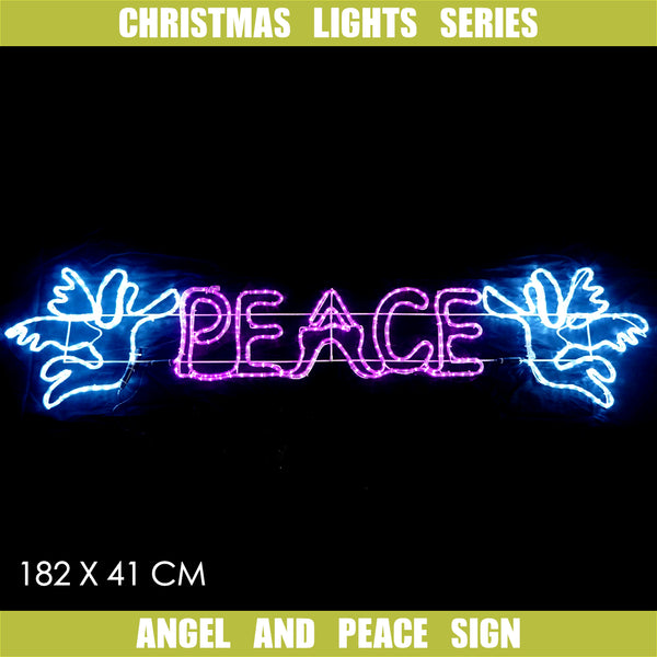 Christmas LED Motif Angel of Peace 182x41cm Outdoor Display