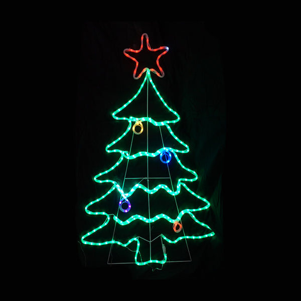 Christmas LED Motif Christmas Tree 136x87cm Indoor Outdoor Display Sign