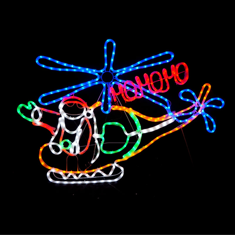 Christmas LED Motif Santa In Chopper 150x78cm Indoor Outdoor Display