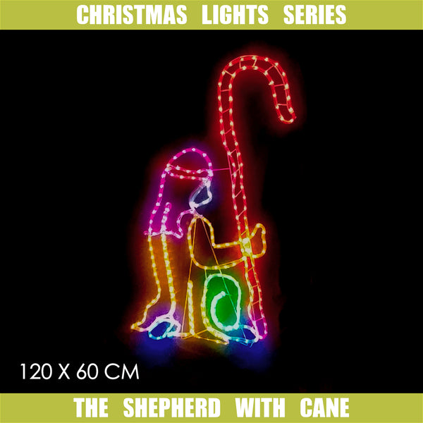 Christmas LED Motif The Shepherd 60x120cm Indoor Outdoor Display Sign