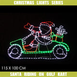 Christmas LED Motif Santa Golf Kart 115x100cm Indoor Outdoor Display