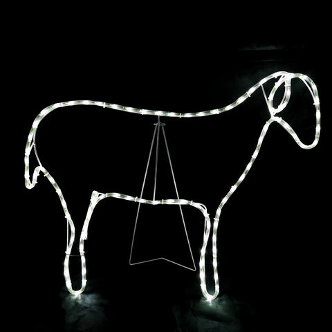 Christmas LED Motif Nativity Sheep 90x68cm Indoor Outdoor Display Sign