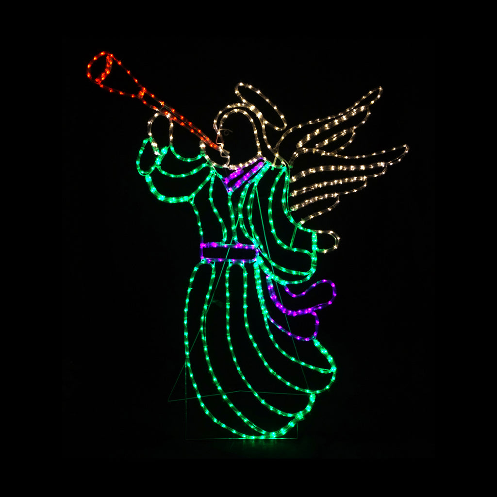 Christmas LED Motif Animated Angel 128x145cm Indoor Outdoor Display Sign