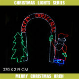 Christmas LED Motif Merry Christmas Arch 2.7 x 2.2m Outdoor Display