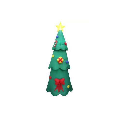 Inflatable 240cm Tall Christmas Tree LED Lit