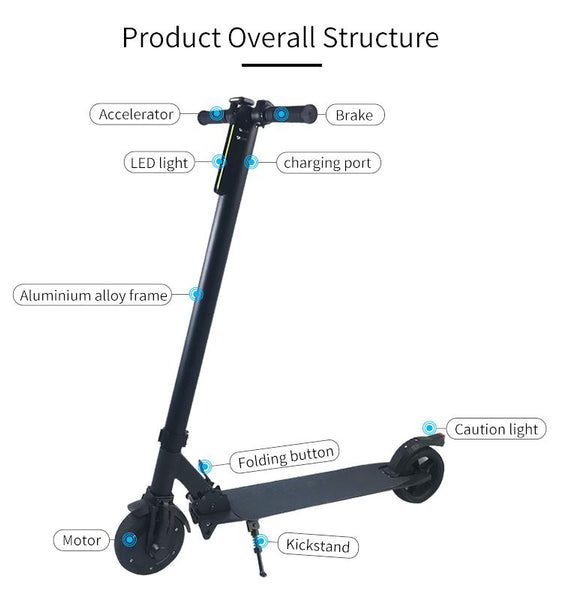 Freestyler™ Ultra Portable Light Weight Electric Motorised Folding Kick Scooter