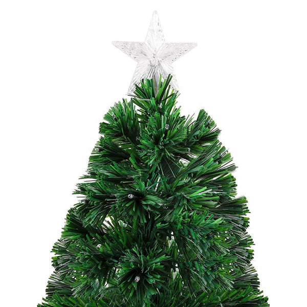 90cm 3ft Christmas Tree Fibre Optic LED Light 4 Functions Animated in Multi Colour