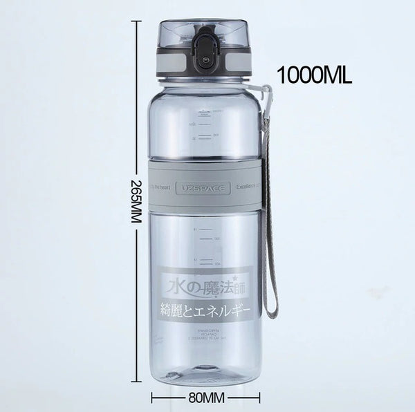UZSPACE 1L Water Bottle BPA Free Tritan Made Drinkware for Sports