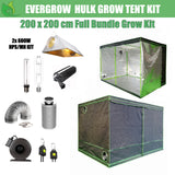 EverGrow Hulk Series 2x2m Dual 600W HPS/MH Hydroponic Grow Tent Full Bundle Kit