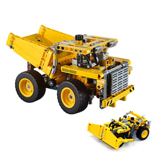Mining Truck 362 Block Pcs 2 in 1 Wheel Dozer Bonus Rebrickable Airplane