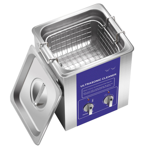 Commercial Use Stainless Steel Ultrasonic Bath Cleaner Heated With Timer High Frequency 4 Sizes