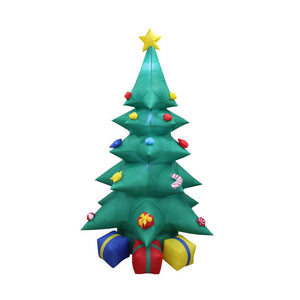 Inflatable 240cm Tall Christmas Tree With Gift Boxes LED Lit