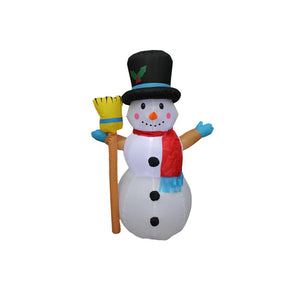 Inflatable 120cm Snowman With Broom Stick LED Lit