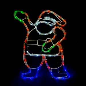 Solar Powered Mini Santa Outdoor Christmas Motif Display 46cm