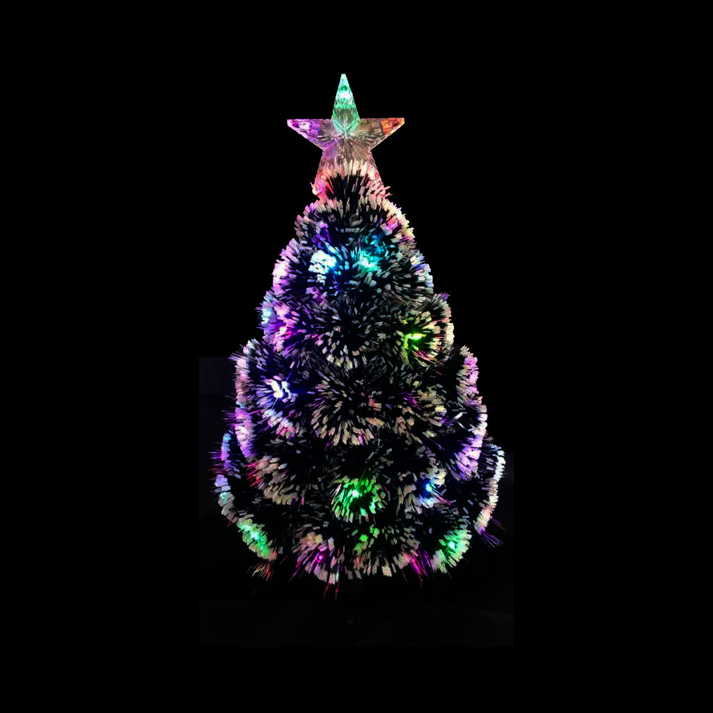 60cm Table Top Fibre Optic Tree Colourful RGB Twinkle LED Light Christmas Tree Decor
