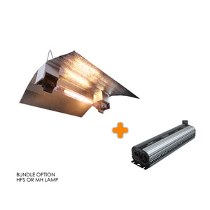 Budget 1000W DE HPS/MH Grow Light Bundle Kit Aluminium Flexible Wing Reflector and Ballast