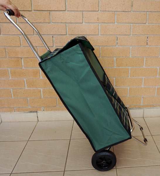 Stainless Steel Wheeled Heavy Duty 60kg Rated Shopping Trolley Durable 50L