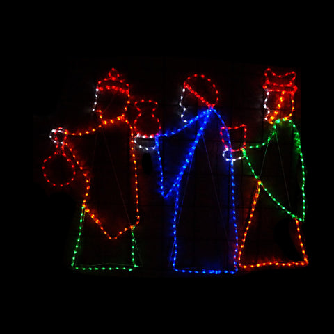 Christmas LED Motif The Three Wisemen 120x160cm  Indoor Outdoor Display Sign